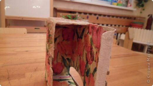 попробовала сделать чайный домик из коробки от витаминов для кошек фото 5