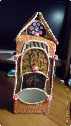 домик для чая из коробочки из под влажных салфеток фото 4