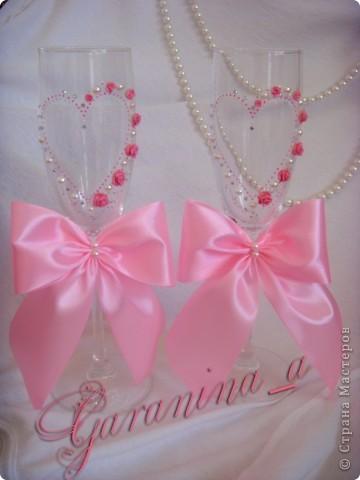 """Свадебные бокалы """"Розовый сон"""" фото 1"""