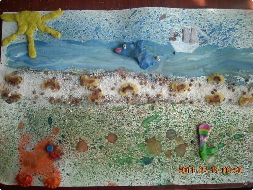 """в создании этой картины участвовал мой младший сынишка, (ему 4 года), помогали старшие брат и сестра ( 10 лет). Картину назвали """"Капитан Грант""""... фото 2"""