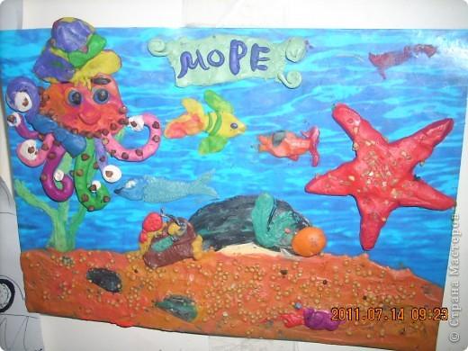 """в создании этой картины участвовал мой младший сынишка, (ему 4 года), помогали старшие брат и сестра ( 10 лет). Картину назвали """"Капитан Грант""""... фото 3"""