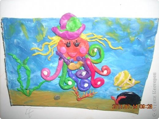 """в создании этой картины участвовал мой младший сынишка, (ему 4 года), помогали старшие брат и сестра ( 10 лет). Картину назвали """"Капитан Грант""""... фото 4"""