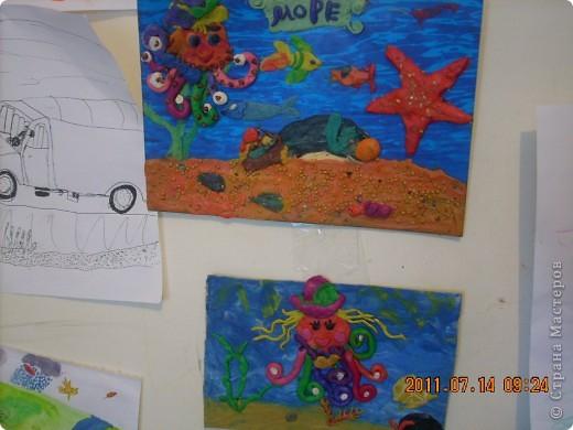 """в создании этой картины участвовал мой младший сынишка, (ему 4 года), помогали старшие брат и сестра ( 10 лет). Картину назвали """"Капитан Грант""""... фото 5"""
