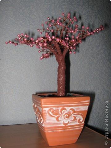 Дерево из бусин фото 2