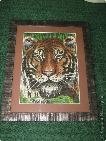 Тигр вышитый бисером.13068 бисеринок. фото 3
