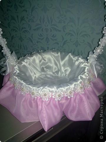 Такая вот свадебная корзиночка для денег)))) фото 2
