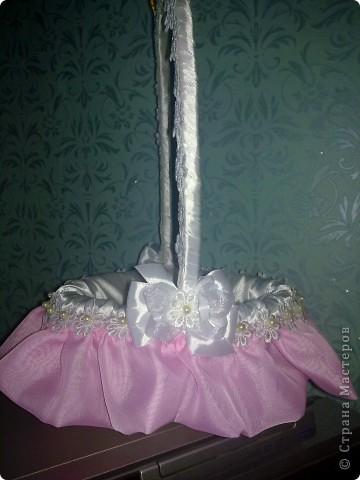Такая вот свадебная корзиночка для денег)))) фото 3