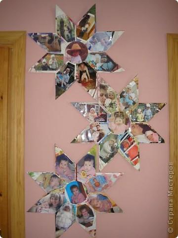 Доброго времени суток, Страна! Вот еще один момент оформления стен дома. Звезда оригами. МК: http://stranamasterov.ru/node/4876 Спасибо отдельное Татьяне Просняковой за чудные руки и безграничный талант! Только я немножко изменила форму - 8 лучей вместо 6. в результате получилось по 16 модулей на каждую звезду + 2 СД диска. фото 1