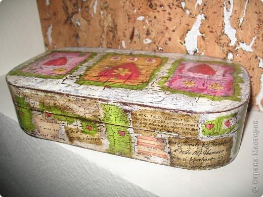 Была простая деревянная шкатулка, а стала вот такая. фото 5