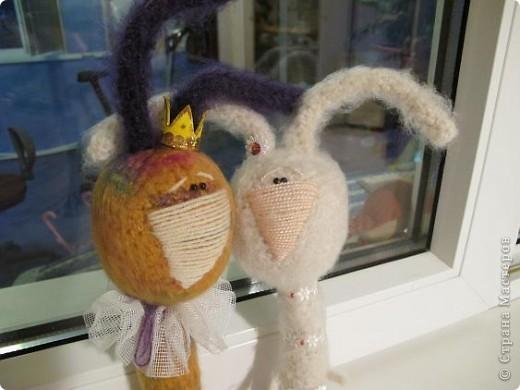 Вот они - мои долгожданные кролы! Принц Маук и его возлюбленая Мая! Они ехали долго, но даже не притронулись к конфеткам, которые им положили в дорогу. Вот это настоящая любовь!)))) фото 3