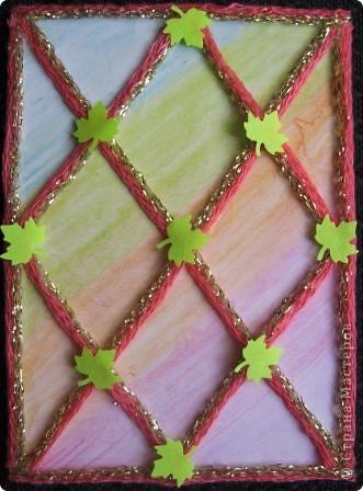 Спиральки из ниточек с люрексом. В ход пошли подарочки-дырокольности. фото 8