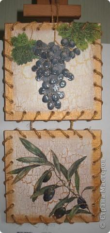 """Панно на кухню """"Оливки и виноград"""" фото 1"""