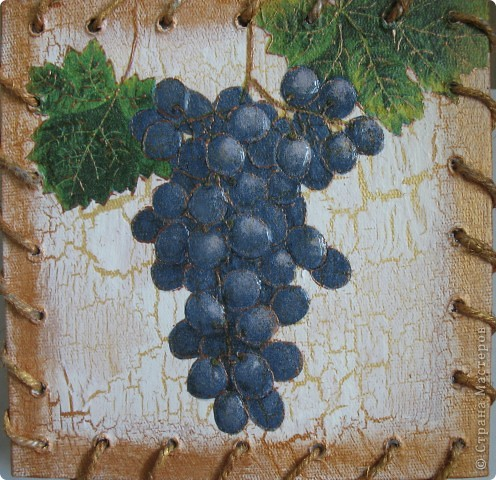 """Панно на кухню """"Оливки и виноград"""" фото 2"""