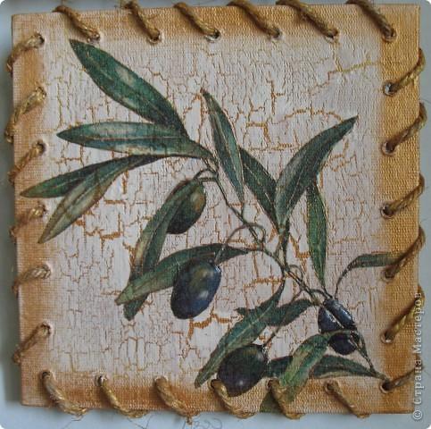 """Панно на кухню """"Оливки и виноград"""" фото 3"""