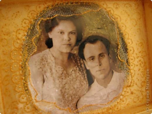 Декор предметов Свадьба Декупаж Золотая пара -подарок к Золотой свадьбе родителей Салфетки фото 6