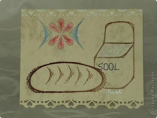 """карты """"хлеб-соли"""" (изготовление на заказ) - tikitud kaardid, niidigraafika фото 2"""