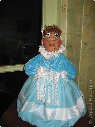Анфиса.кукла-мешочек для целофановых пакетиков. фото 2