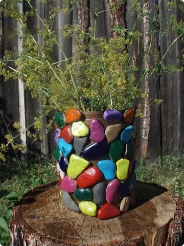 ваза с камнями   фото 1