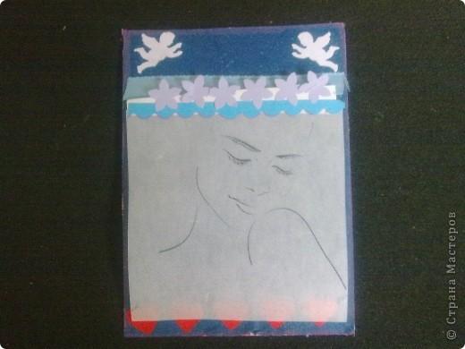 """В основе карточек распечатка работ В.Шорохова. """"Удивительные по своей пластике графические работы Владимира Шорохова.  В них все настолько гармонично, при минимуме линий, в итоге рождается поэтический, прекрасно-утонченный женский образ.""""   Образы напечатала на кальке, и получилось то, что и задумывалось: то ли девочка, а то ли виденье. №1 Девушка - скромница фото 1"""