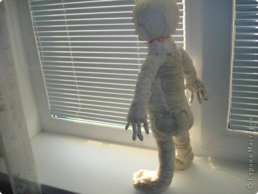 Из проволоки которая потдаётся изгибанию я скрутила проволочный каркас тела будущей куклы.Концы проволоки прикрутила и зажала плоскозубцами. фото 19