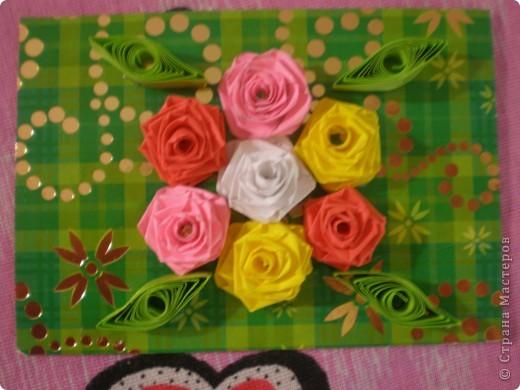 Всем доброго времени суток!!!  Вот Моя новая серия карточек Нежность роз. Розы выполнены в технике квиллинг.  фото 4