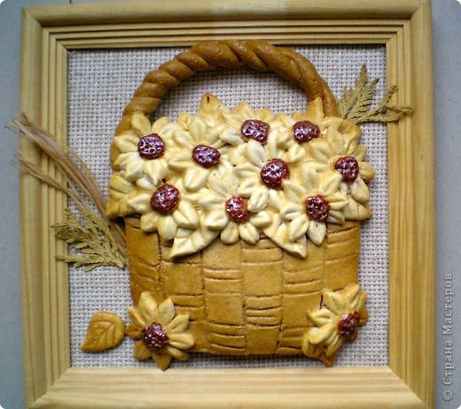 Моя цветочная корзинка из теста... фото 1