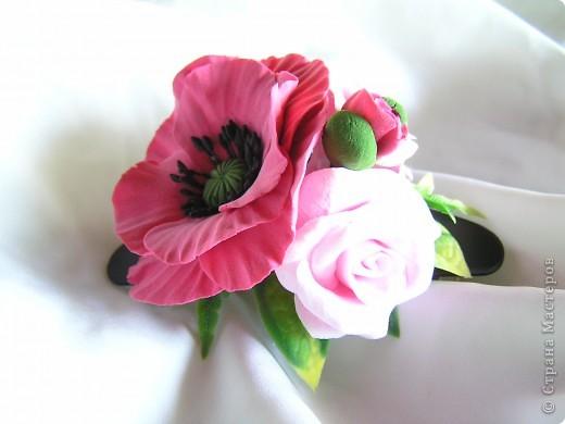 Мак и розы-тандем фото 1