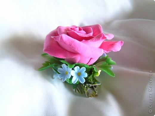 Роза и незабудки фото 2