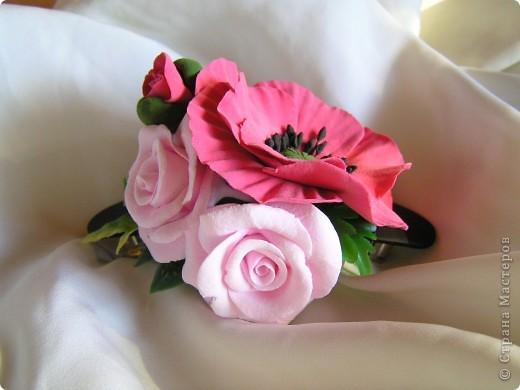 Мак и розы-тандем фото 3
