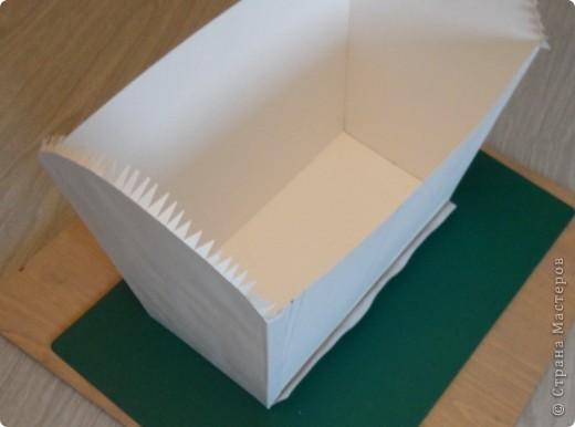 Для казны лучше всего подходит плотная бумага (280-300)  или нетолстый картон. Я делала из бумаги для акварели, но казна очень быстро теряет форму, мнётся, появляются некрасивые заломы. Её практически нельзя транспортировать и класть в неё тяжёлые конверты. Хотя, если не оклеивать тканью, и «на скорую руку» для одного вечера – вполне подойдёт. Сегодня расскажу, как делала именно такую – одноразовую казну. С наименьшим числом «швов». Хотя, на фото казна посложнее - с крышкой Аналогично можно сделать бонбоньерки. соответственно, уменьшив размеры.  Думаю, сам принцип работы описан уже не один раз. Поэтому авторскими тут могут считаться только чертежи и размеры казны. фото 6