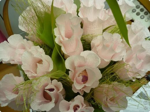 """""""Проба пера"""" ..уже давно  хотела сделать """"сладенькие"""" розы...не было подходящего материала. Оцените что получилось?! :) фото 3"""