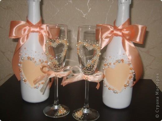 Свадебный набор персиковый фото 2