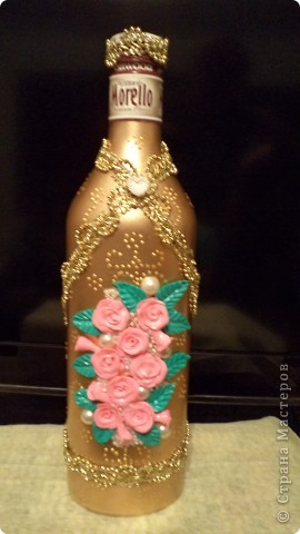 Очередную бутылочку сделала коллеге на день рождения. фото 1