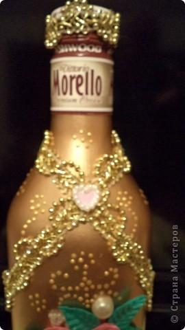 Очередную бутылочку сделала коллеге на день рождения. фото 3