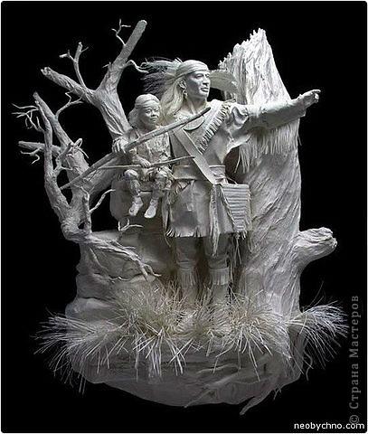 Продолжаю удивляться увиденным в сети, делюсь с вами, думаю вы тоже удивитесь! Даже не верится, что эти работы из бумаги! Авторы используют свои собственные запатентованные методы. Вот это бумажные скульптуры супругов Аллена и Пэтти Экман.  фото 3