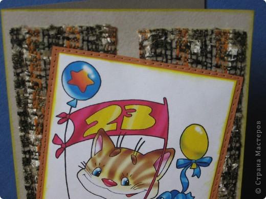 Отыскала в закромах своих хомячьих такую весёленькую картиночку, и родилась эта юморная детская открыточка. фото 3