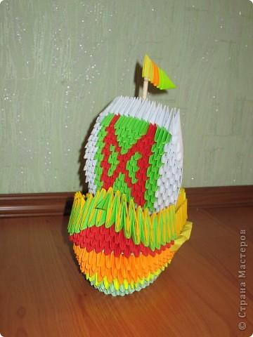 Корабль я уже такой делала,только другой расцветки, ну уж очень захотелось опять похвастаться! фото 1
