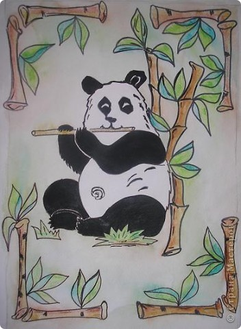 Добрый вечер, Страна! Детям очень понравились панды. Вот и я попробовала нарисовать