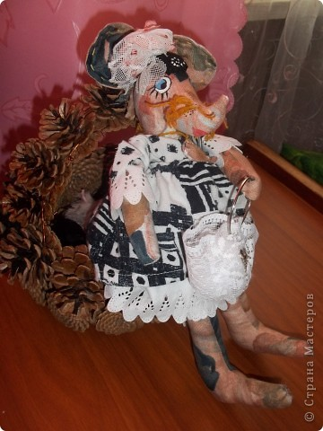 Мышка Полина с сумочкой !Модница фото 2