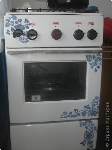 Эта старая газовая плита на промежуточном этапе. оталось покрыть лаком. надо же на чем-нибудь тренироваться))))) фото 1