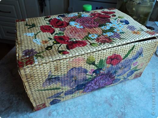 Сделала себе коробочку для салфеток фото 1