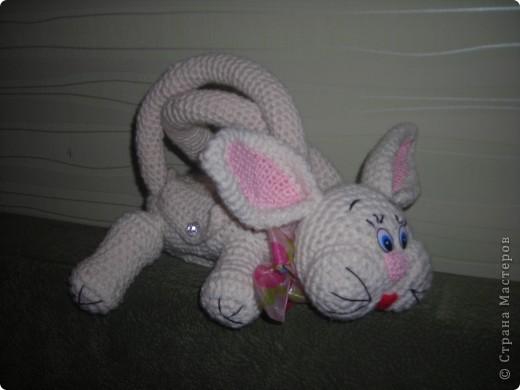 Сумка зайчик связана для девочки по описанию которое можно скачать сдесь http://depositfiles.com/files/3evqq5cm6 |depositfiles.com  http://www.turbobit.net/1pmyz122fmg6.html | turbobit.net   фото 2
