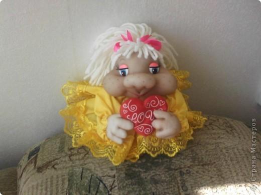 """Попросили сделать куколку """"Влюблённую"""" и обязательно в жёлтом и вот результат. фото 1"""