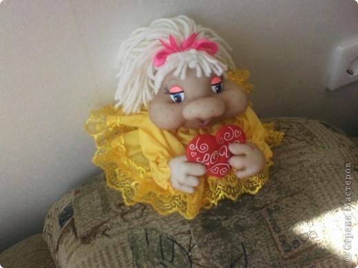 """Попросили сделать куколку """"Влюблённую"""" и обязательно в жёлтом и вот результат. фото 2"""