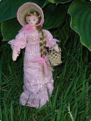 Кукла сшита из х/б ткани  лицо расписано акриловыми красками, рост 28см.
