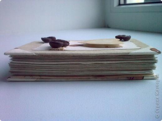 Здравствуйте!Я к вам со своей новой работой!Это мой кофейный комплект:открытка и блокнот. фото 6