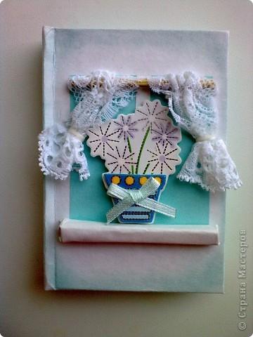 Здравствуйте!Я к вам со своей новой работой!Это мой кофейный комплект:открытка и блокнот. фото 8