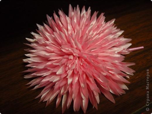 Хризантемы из ткани...много цветов... фото 9