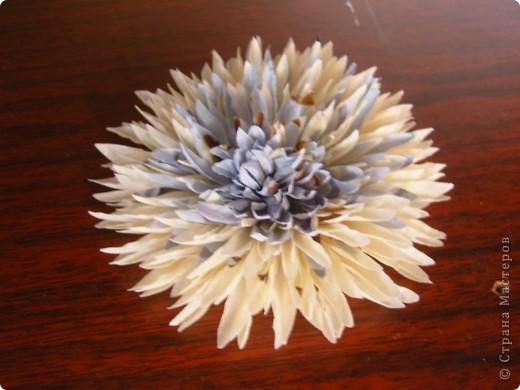 Хризантемы из ткани...много цветов... фото 10