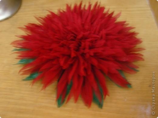 Хризантемы из ткани...много цветов... фото 14